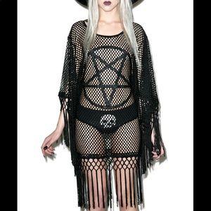 Killstar Pentagram Fishnet Dress